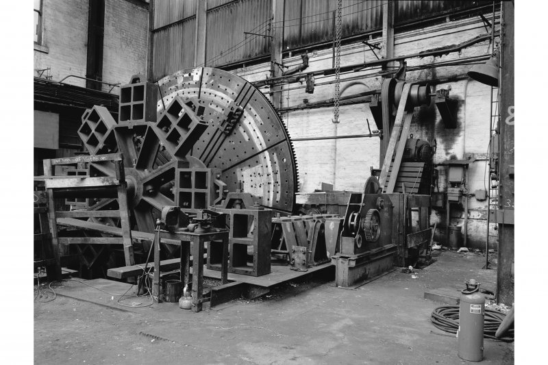 Paisley, Renfrew Road, Vulcan Works, Interior View of belt-driven faceplate lathe