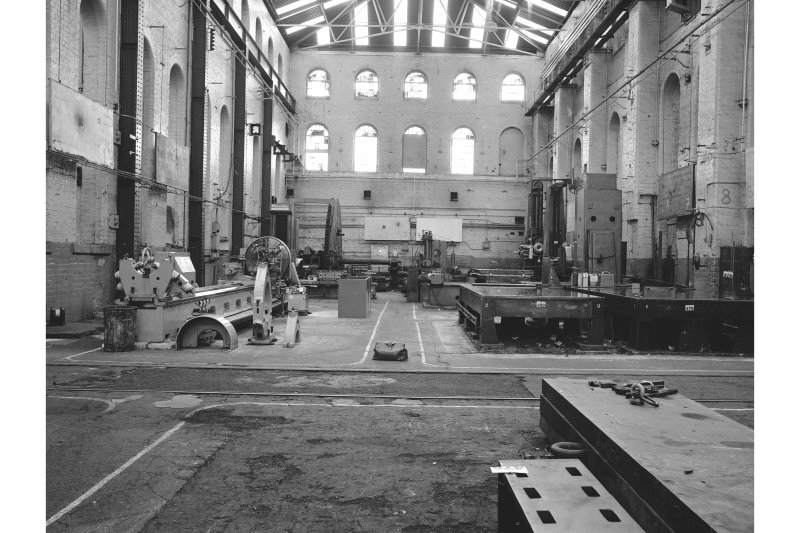 Paisley, Renfrew Road, Vulcan Works, Interior View of engineering bay