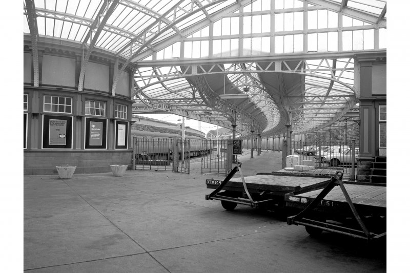 Wemyss Bay Station; Interior View of central ticket booth