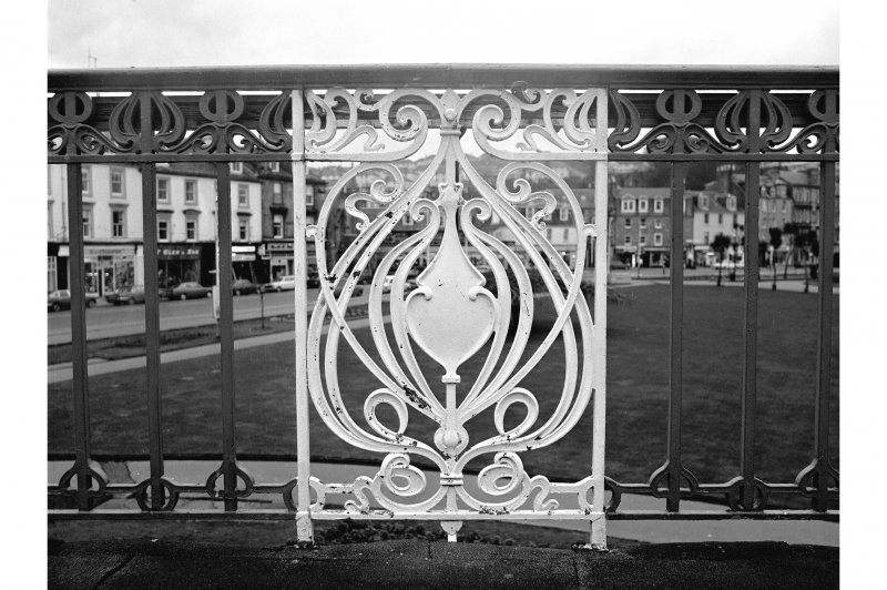 Bute, Rothesay, Winter Gardens Speciman panel from wrought-iron balustrade on upper storey