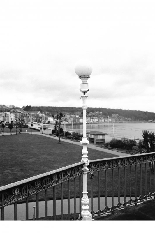 Bute, Rothesay, Winter Gardens View of specimen lamp standard on balcony