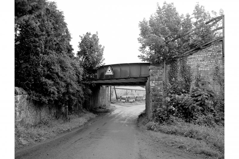 Collessie, Railway Underbridge View from SW showing SW front