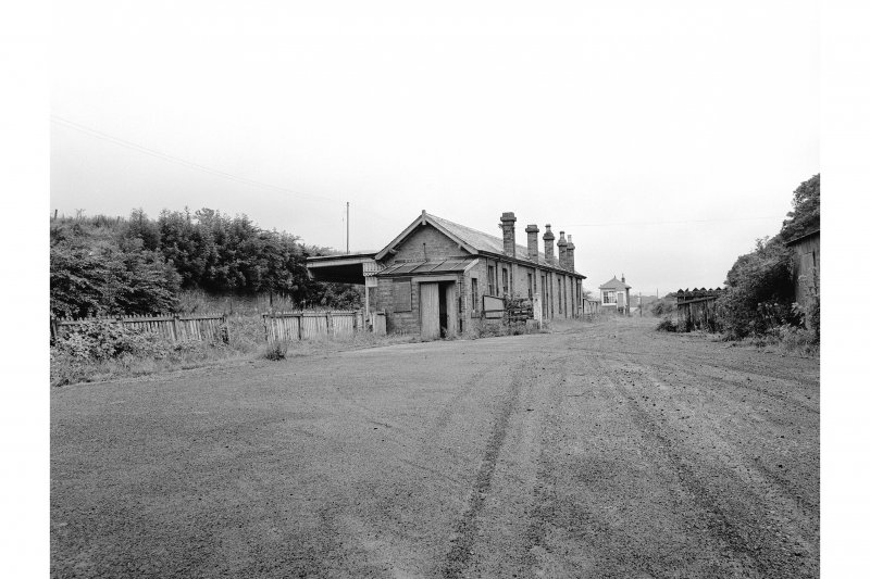 Newburgh, Abernethy Road, Station View from NE showing ENE and NNW fronts of main station building