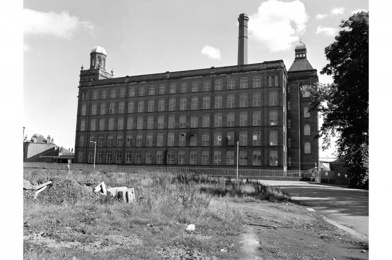 Paisley, Anchor Thread Works, Mile End Mill View from NW showing NNW front