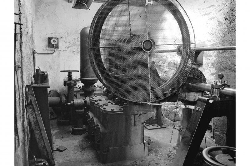 Stanley Mills, Interior View showing turbine driven by 3 throw pump