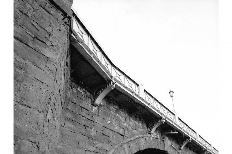 Perth Bridge Detailed view of underside and outside of parapet (extension of 1869)