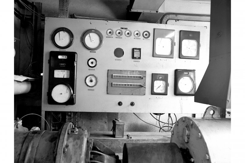 Cardowan Colliery View of control panel for methane pumps