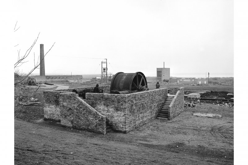 Prestongrange Colliery View of winding engine