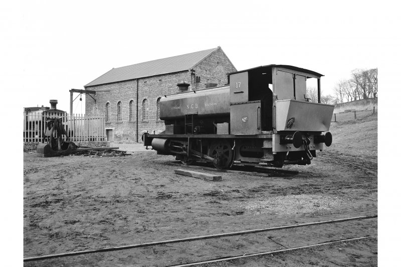 Prestongrange Colliery View of National Coal Board locomotive No. 17