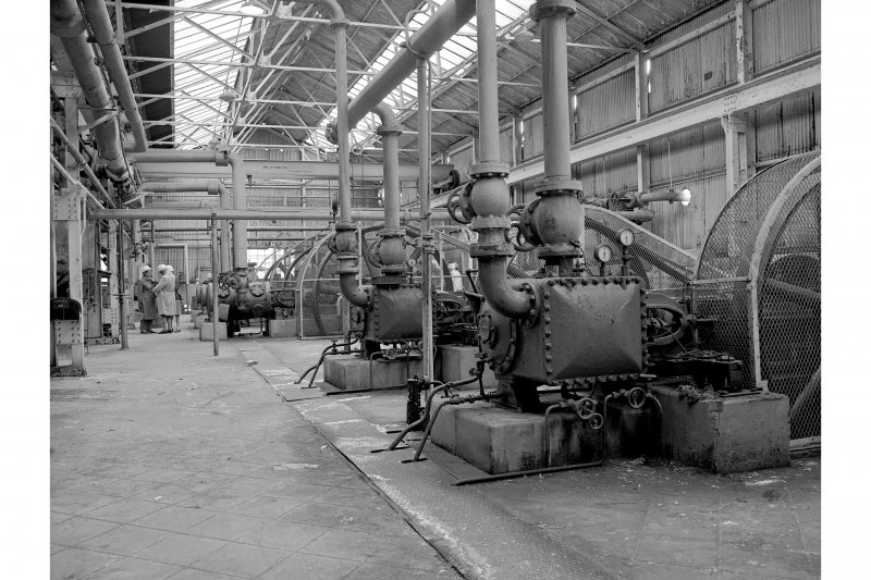 Grangemouth Refinery, Interior View showing vacuum pumps (RH) and compressors in Aromatic Separating Plant