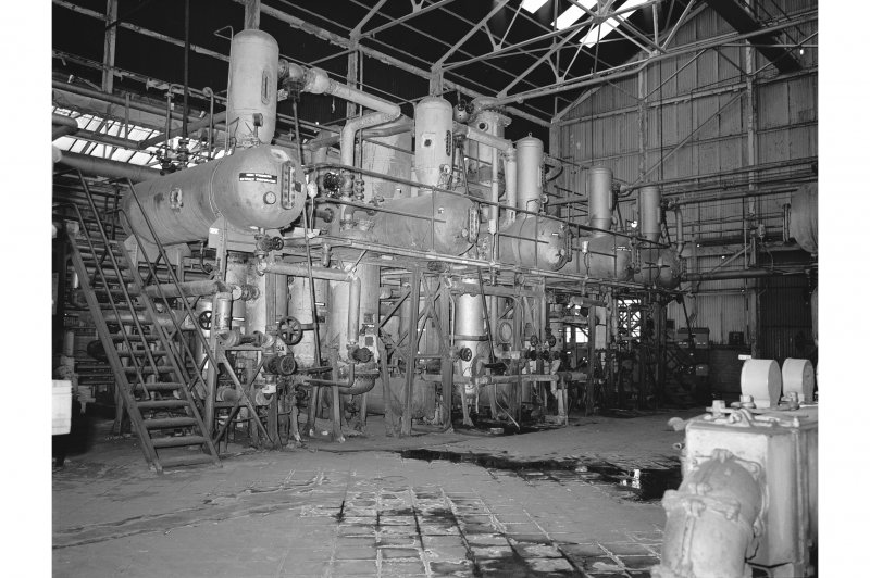 Grangemouth Refinery, Interior View showing five effect evaporator in Aromatic Separating Plant