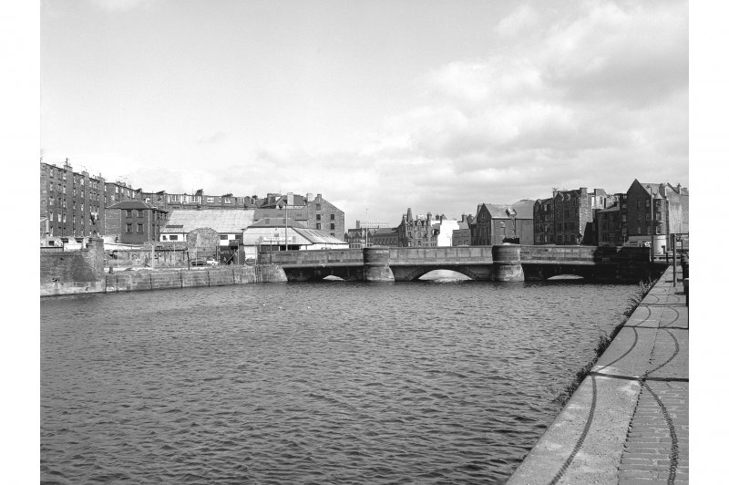 Edinburgh, Leith, The Shore, Bridge View from WSW showing WSW front