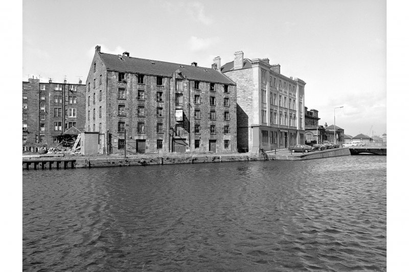 Edinburgh, Commercial Wharf, Warehouse View from SSE showing SE front