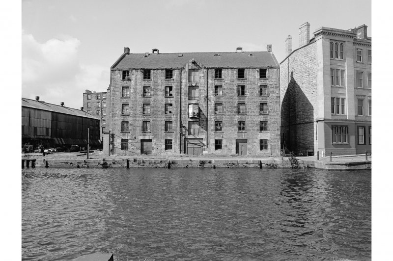 Edinburgh, Commercial Wharf, Warehouse View from SE showing SE front