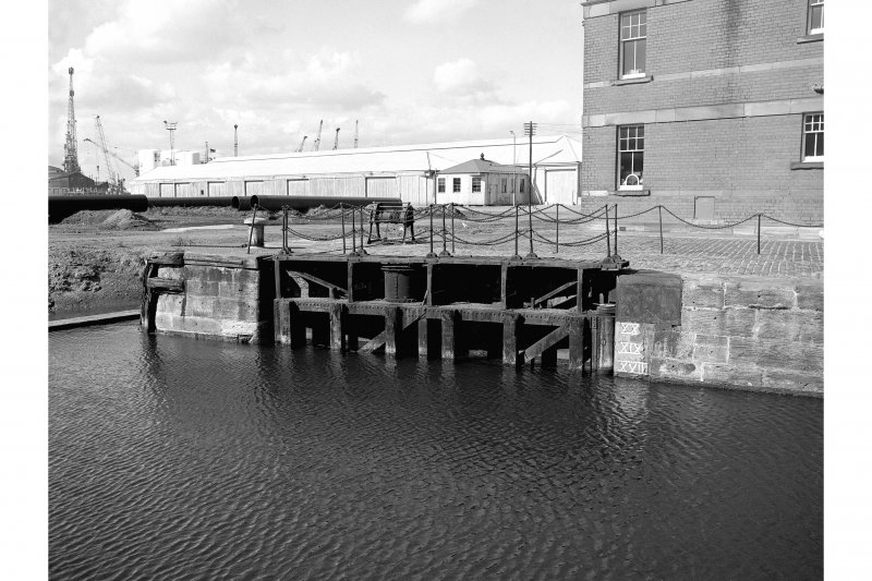 Edinburgh, Leith Docks, East Old Dock View from SSE showing W lockgate