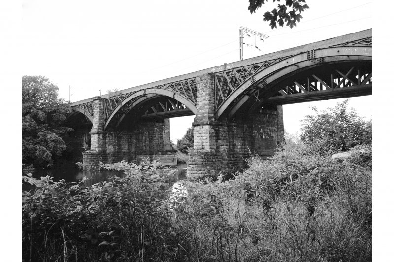 Uddingston, Railway Viaduct View from SE showing S front