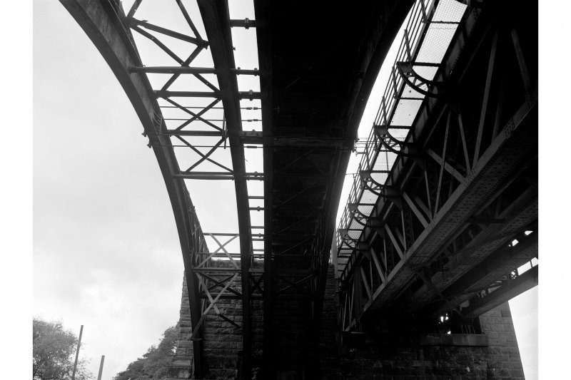 Uddingston, Railway Viaduct View looking W along underside of E arch