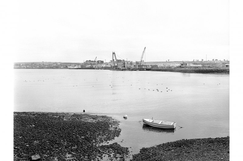 Ferryden, Quays Distant view from NW