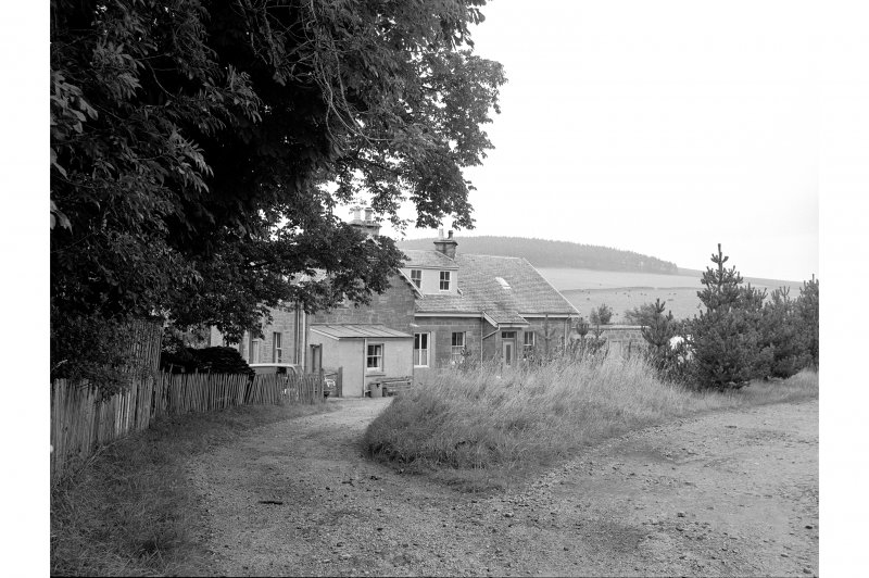 Mulben Station View from W showing SW front of main station building