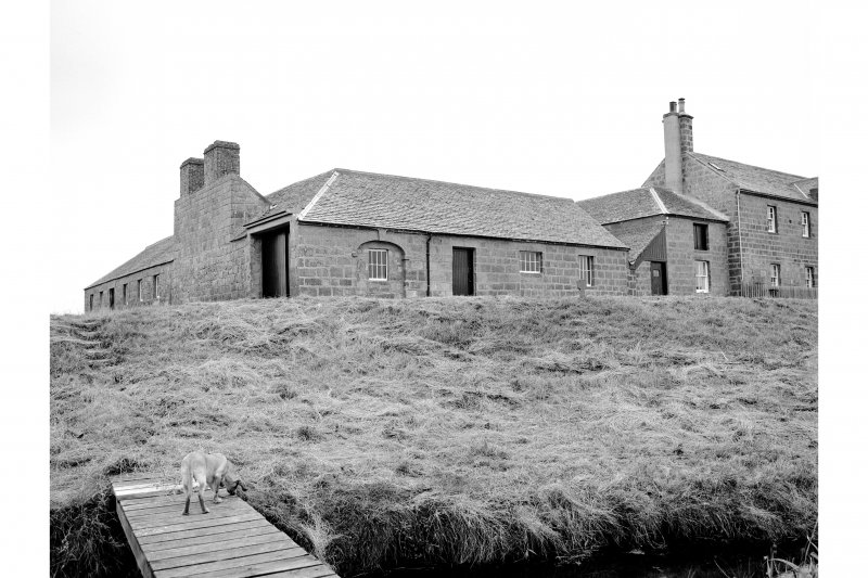 Tugnet, Fishing Station and Ice-house View from SW showing WNW and SSW fronts of boiling house and part of SSW front of dwelling-house block