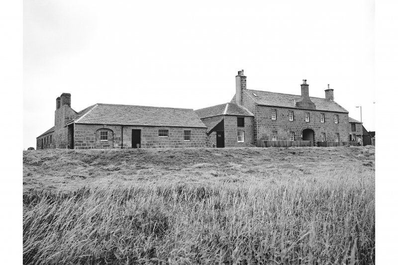Tugnet, Fishing Station and Ice-house View from SW showing SSW front of boiling house and SSW front of dwelling-house block