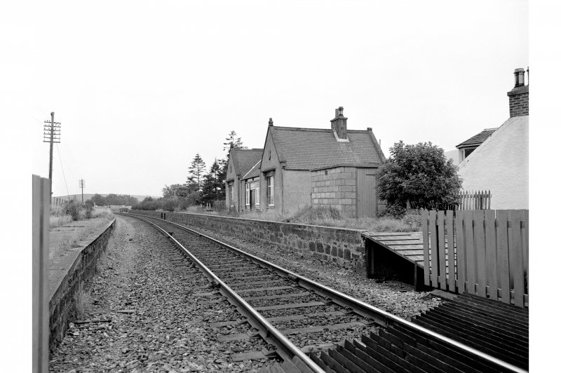 Gartly Station View from N showing ENE front and part of NNW front