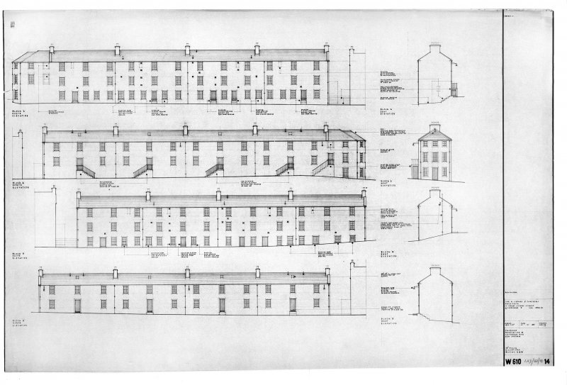 New Lanark, Caithness Row Copy of elevations