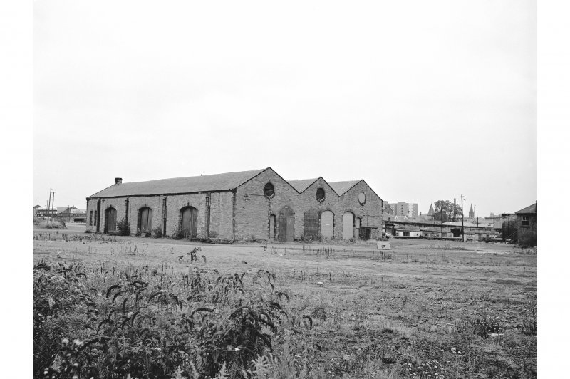 Perth, Leonard Street, General Station View from SW showing SSE and WSW fronts of goods shed