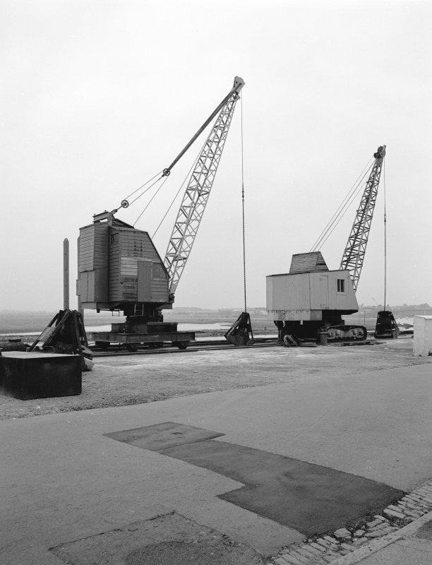 Irvine Harbour View showing cranes