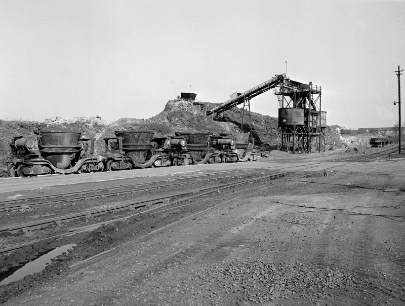 Glasgow, Clyde Iron Works View showing slag bogies and slag crushing plant