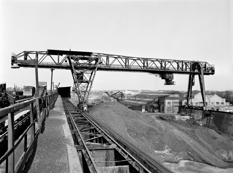 Glasgow, Clyde Iron Works View showing goliath crane in ore stockyard