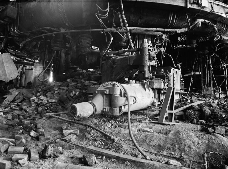 Glasgow, Clyde Iron Works, Interior View showing clay gun of number 3 furnace
