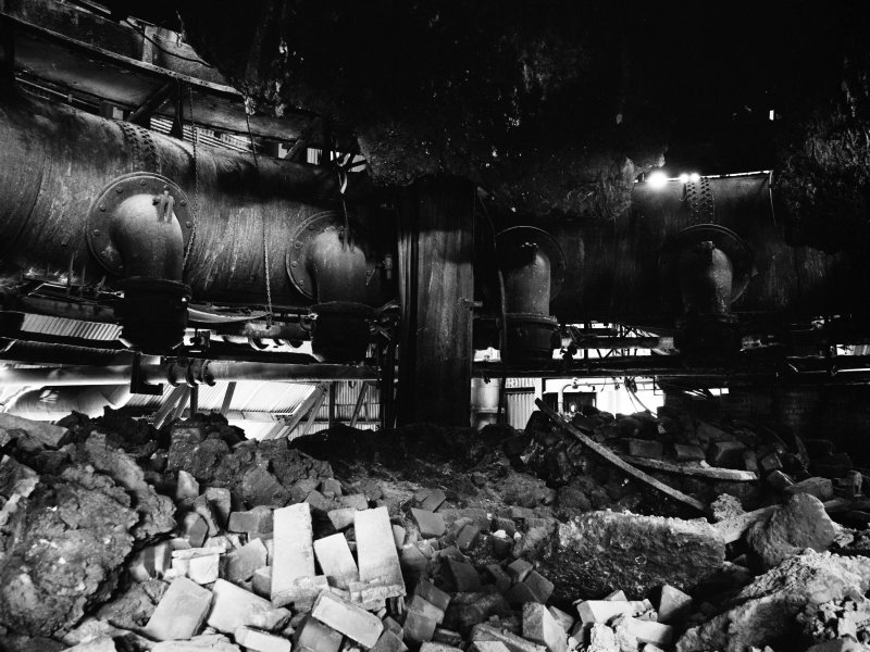 Glasgow, Clyde Iron Works, Interior View showing base of number 3 furnace