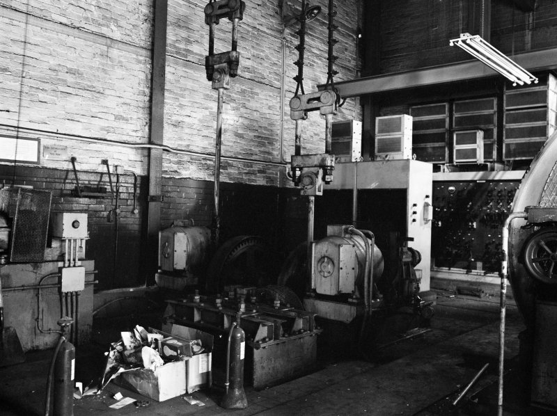 Glasgow, Clyde Iron Works, Interior View showing bell control mechanism
