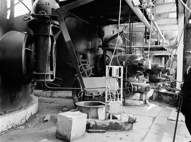 Glasgow, Clyde Iron Works, Interior View showing bases of hot-blast stoves