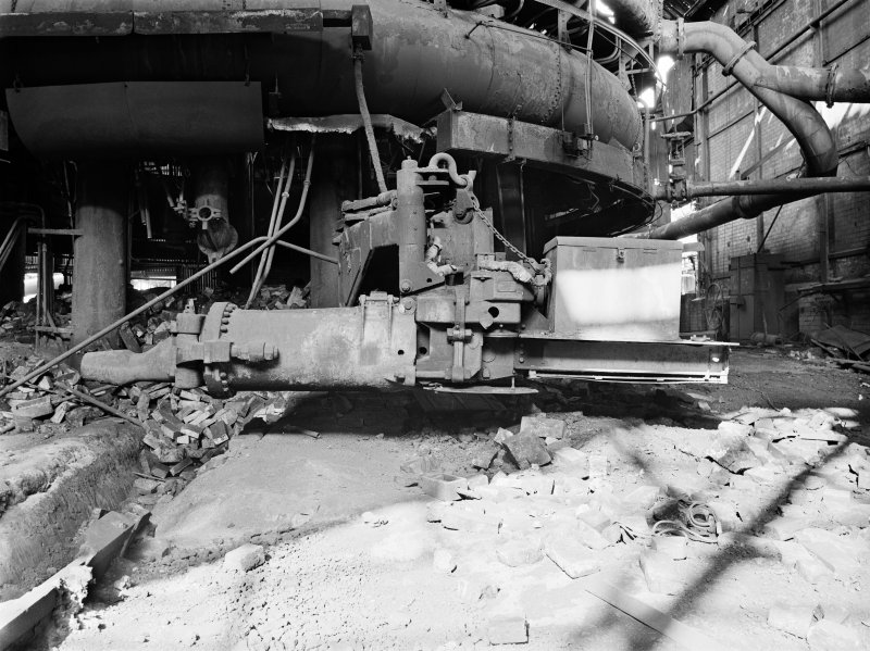 Glasgow, Clyde Iron Works, Interior View showing base of number 1 furnace with clay gun