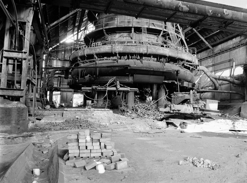 Glasgow, Clyde Iron Works, Interior View showing base of number 1 furnace