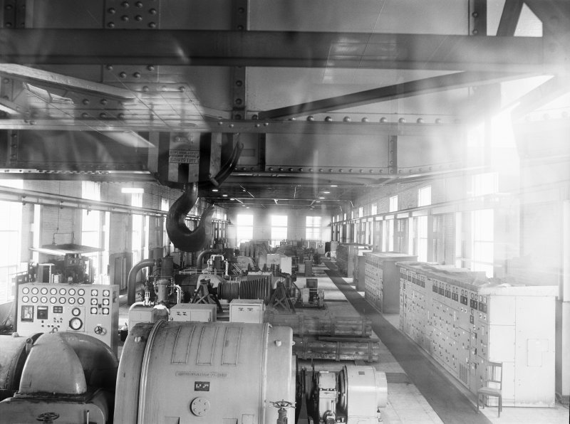 Glasgow, Clyde Iron Works, Interior View of power station