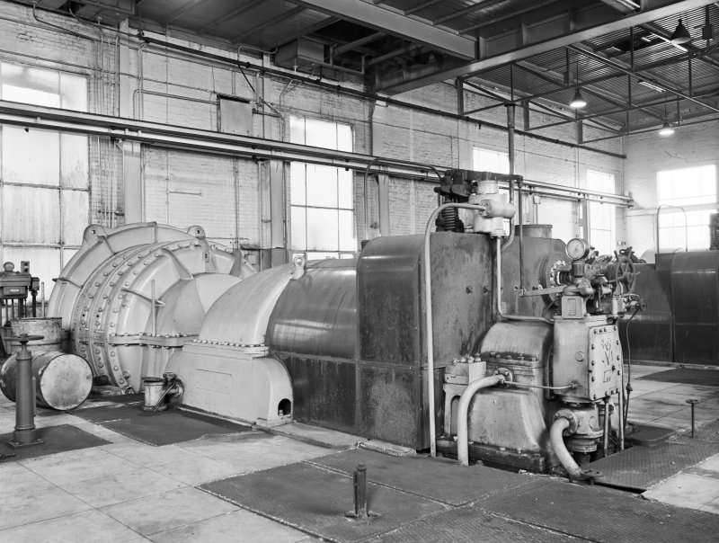 Glasgow, Clyde Iron Works, Interior View of small turbo-blower set in power station
