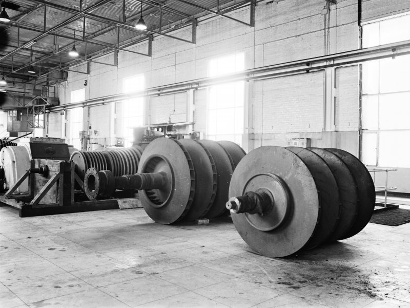 Glasgow, Clyde Iron Works, Interior View of turbo-blower impellers in power station