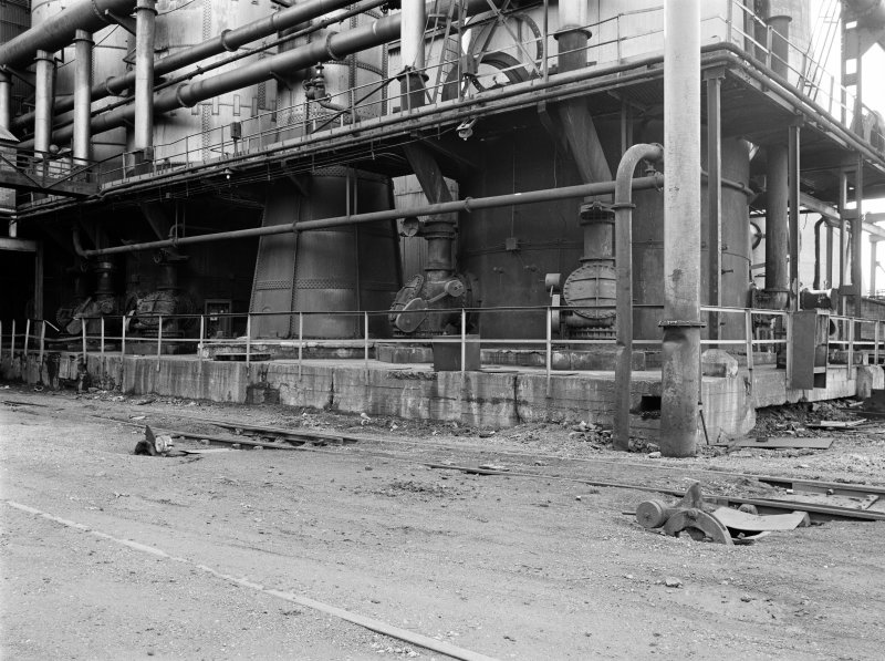 Glasgow, Clyde Iron Works View showing bases of hot blast stoves for number 3 blast furnace (originally for converted number 3 furnace)