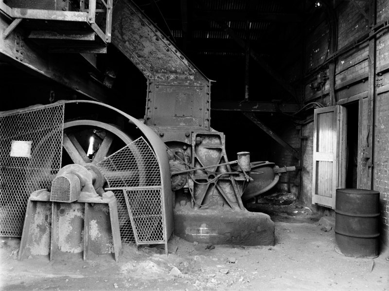 Glasgow, Clyde Iron Works, Interior View showing ore crusher of coke ovens