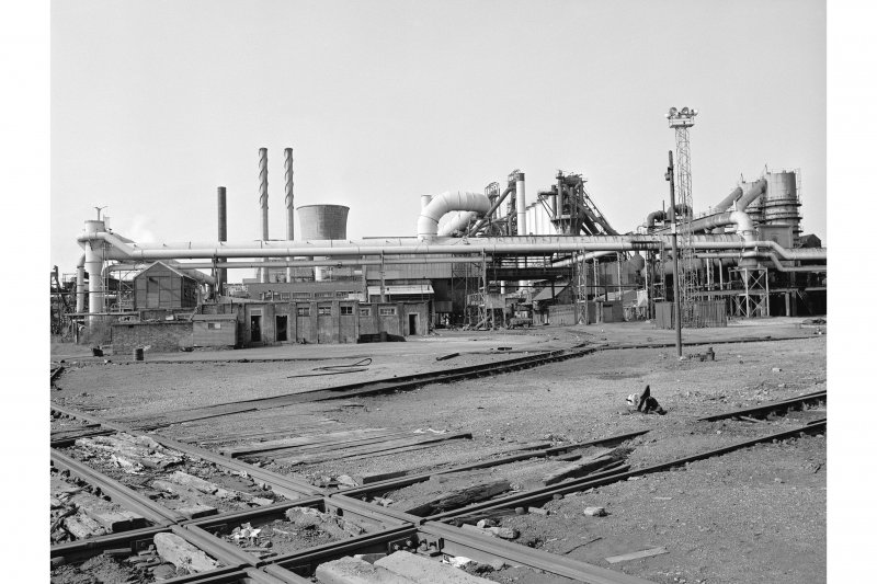 Glasgow, Clyde Iron Works View showing blast furnaces