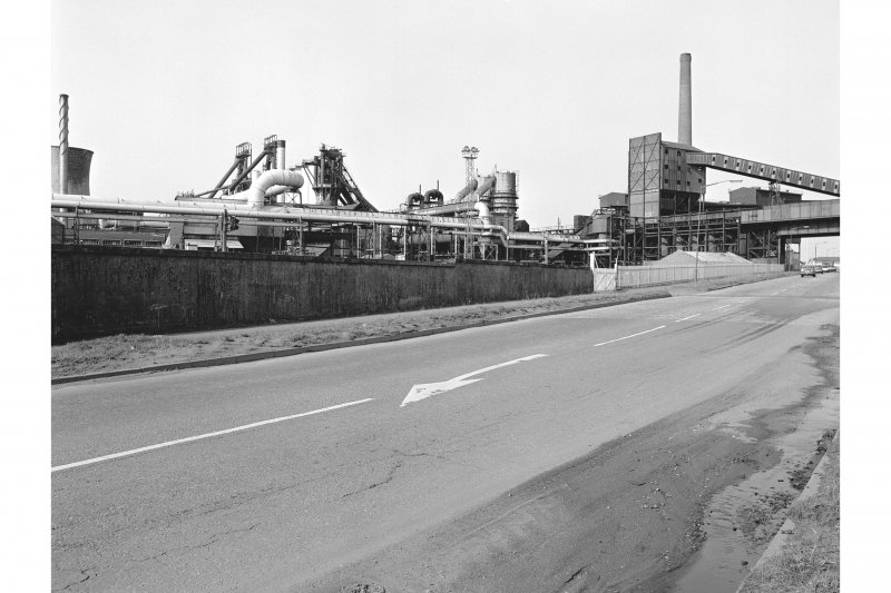 Glasgow, Clyde Iron Works View showing sinster plant and blast furnaces