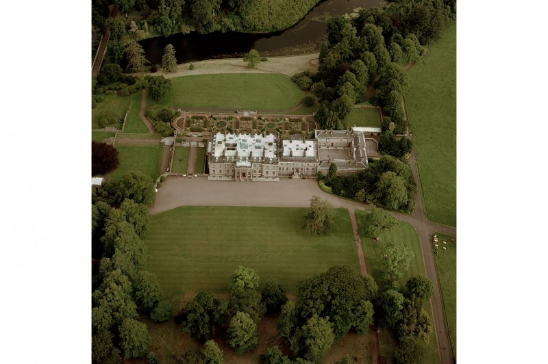 Manderston House and Lakes, aerial view.