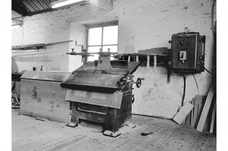 Glengarnock Steel Works, Joiner's Shop; Interior View of universal saw made by American Machinery Co., Grand Rapids Michigan