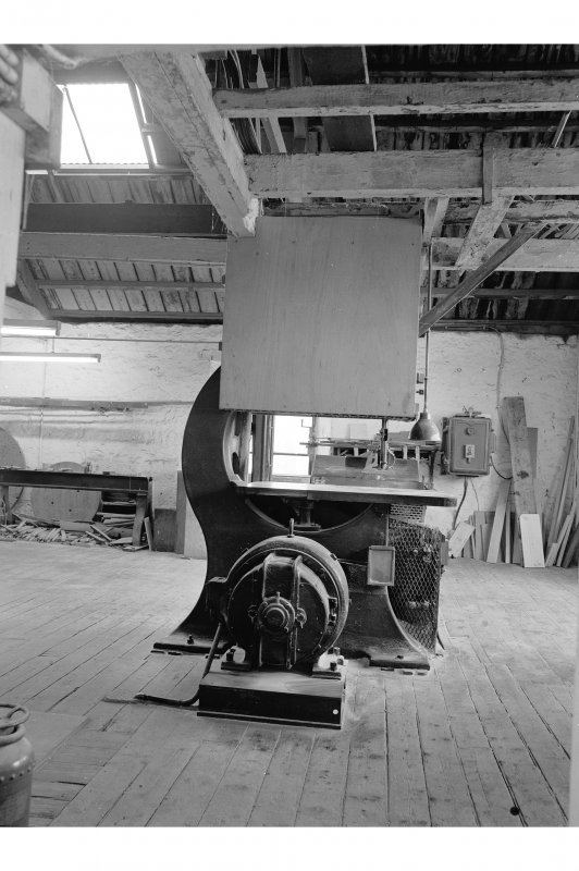 Glengarnock Steel Works, Joiner's Shop, interior View of Kerr, Auchengree bandsaw with Sturtevant motor