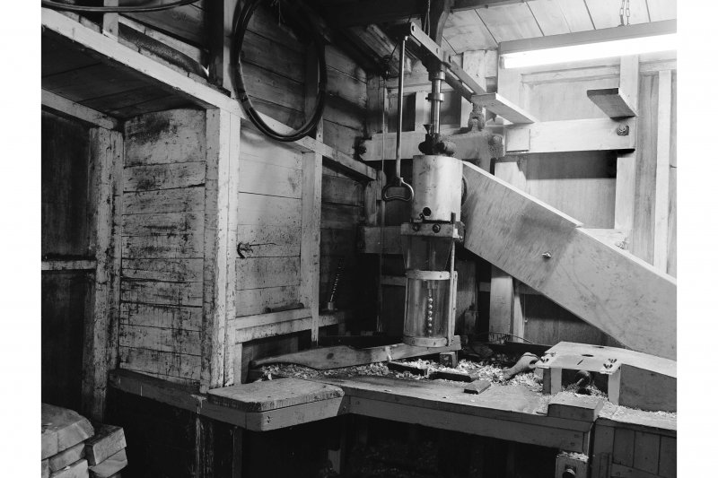 Glengarnock Steel Works, Joiner's Shop; Interior View of home made drill for rabbles