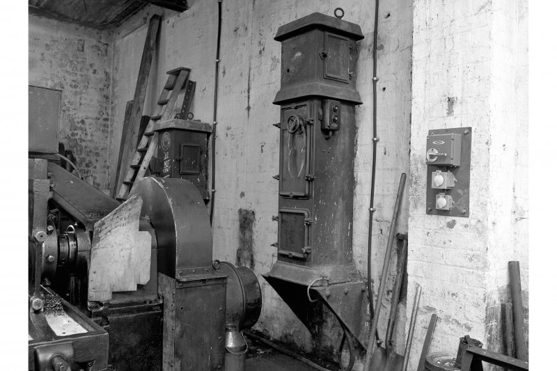 Glengarnock Steel Works, Joiner's Shop; Interior View of starters for hydraulic pump and test preparation machine