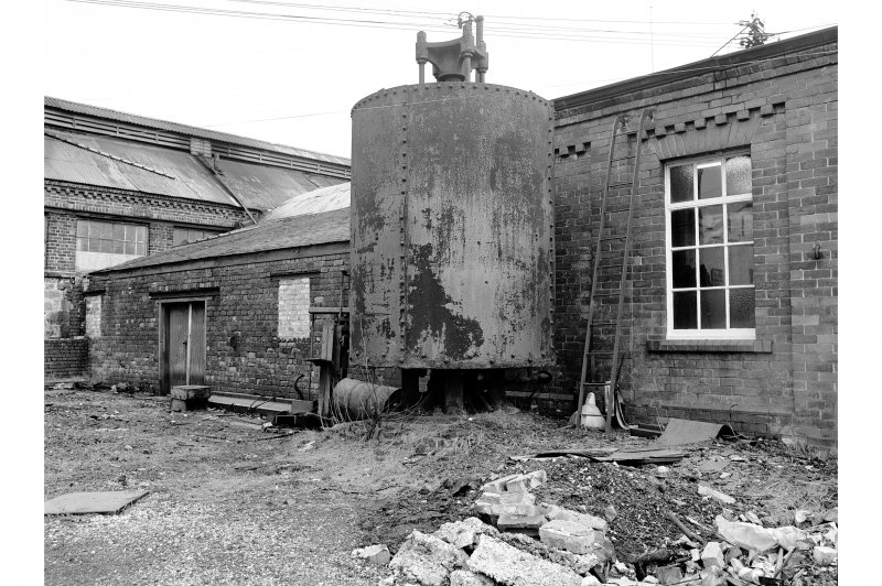 Glengarnock Steel Works, Test House View of hydraulic accumulator for Test House